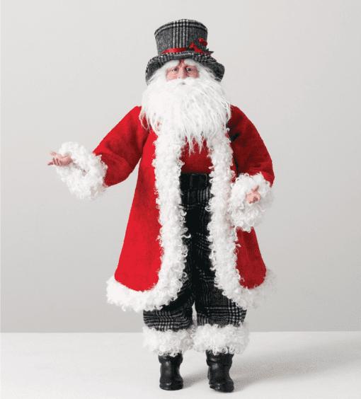 Santa Top Hat Figurine