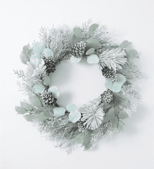 Snowy Pine Eucalyptus Wreath