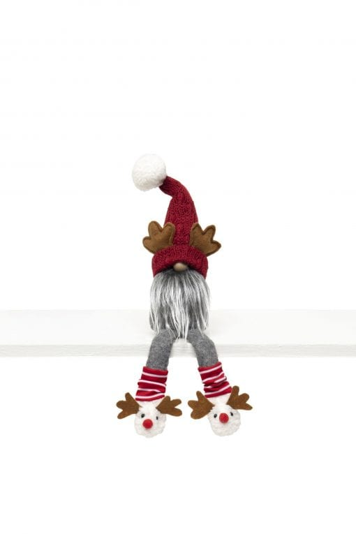 GNOME WITH ANTLERS, WIRED SWEATER HAT