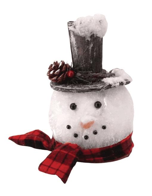 GLITTER SNOWMAN HEAD