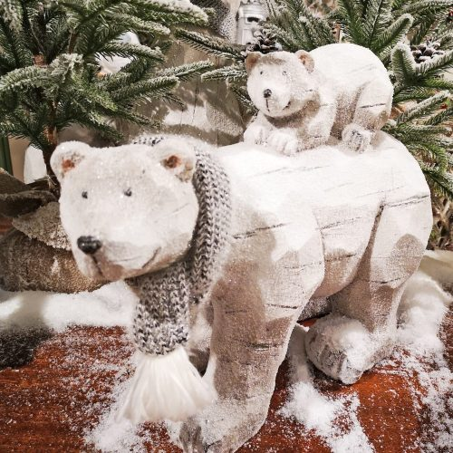Cream Bear with Baby