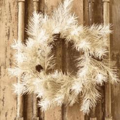 Vintaged Windowpane Pine Wreath
