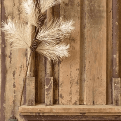 Vintaged Windowpane Pine Spray
