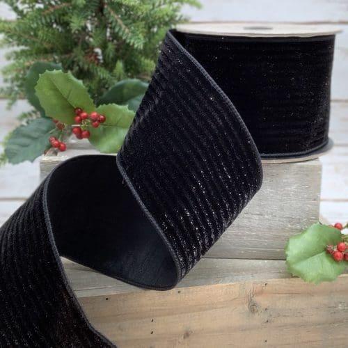 Velvet Lame Stripe Ribbon