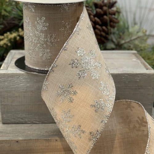 Linen Glitter Snowflake