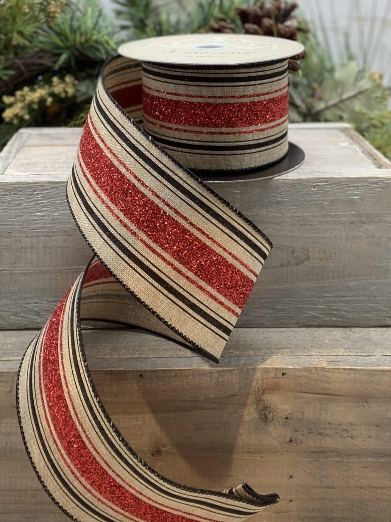 Linen Stripe Ribbon
