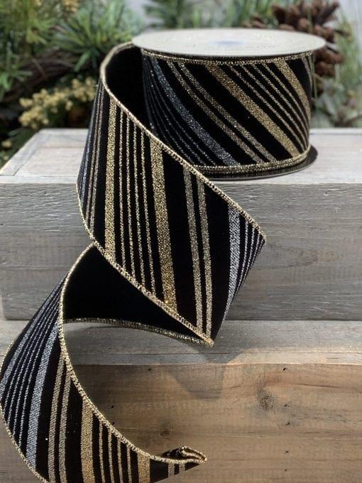 Velvet Glitter Stripe