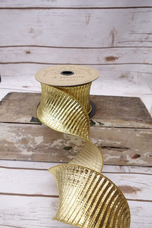 Fluted Lame Ribbon