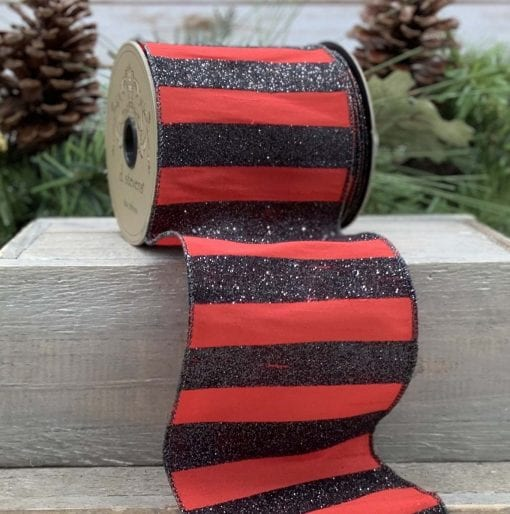 Glitter Red Cabaret Ribbon