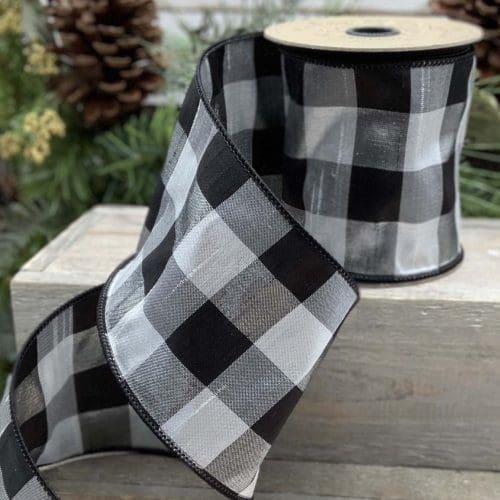 Metallic Checker Ribbon