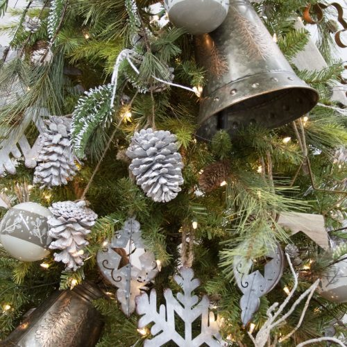 Rustic Woodland Frosty Christmas Tree Package