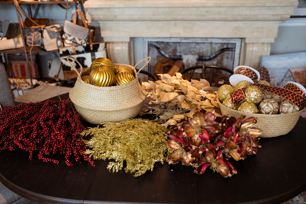 Burgundy & Gold Christmas Tree Package