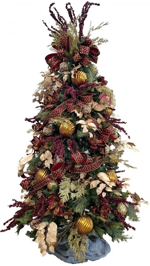Wine & Gold Christmas Tree Package