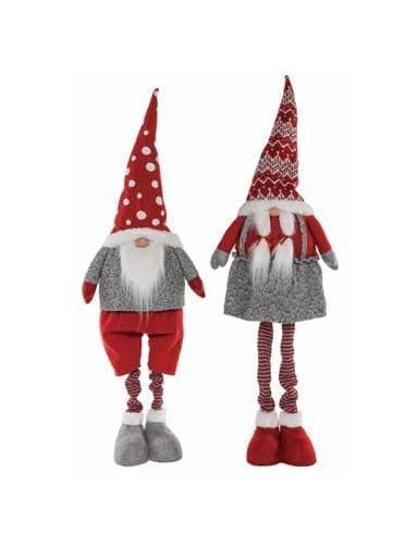 HOLIDAY GNOMES W/ EXPANDABLE LEGS - SET 2