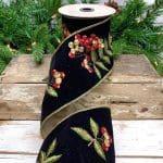 Embroider Berries Velvet